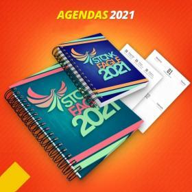 Agenda Personalizada 2021 Capa dura   Laminação Fosca Encadernação Wire-O