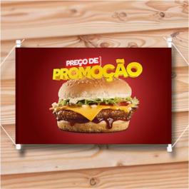 Banner Faixa Brilho a metro Lona 280g  Frente colorida  Faixa com Tubete nas Laterais Tamanho mínimo de 1m2
