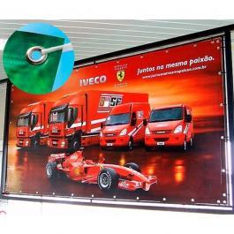Banner Fosco 440g com Ilhós a Metro