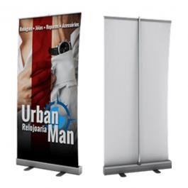 Banner RollUp Alumínio e Lona 85x225cm  Brilho