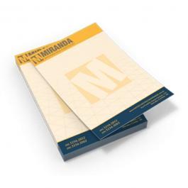 Bloco de Anotações Papel Sulfite 90g A4 (21x29,7cm) 4x0 Colorido Frente  bloco de 100 folhas Impressão Borda a Borda