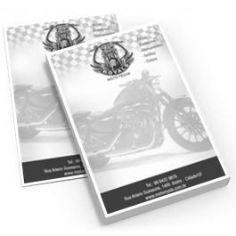 Bloco de Anotações A6 Papel Sulfite 75g Branco A6 (10,5x14,8cm) 1x0 PB  bloco de 100 folhas Borda sem impressão*