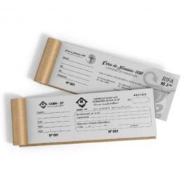 Bloco Numerado com Canhoto Papel Sulfite 75g 9,9x21cm 1x0 PB  Numeração, Serrilha, Grampo Borda branca