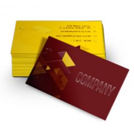 Cartão de Visita Couchê 300g Fosco + Verniz Local  8,8x5,08cm    1000 un