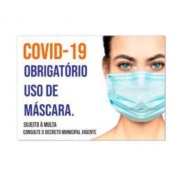 Cartaz Plastificado A3 Sulfite 75g A3 (29,7x42cm) 4x0  Plastificado Sinalização Coronavírus