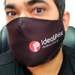 Máscara Personalizada contra o Coronavírus Tecido Gabardine dupla camada  4x0  Costura