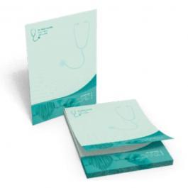 Receituário Papel Sulfite 90g 15x10cm 4x0 Colorido Frente  bloco de 100 folhas Impressão Borda a Borda