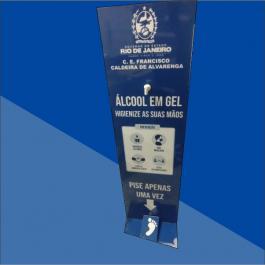 Totem para Álcool Gel MDF